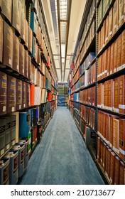 JEFFERSON CITY, MISSOURI - JULY 21, 2014: Law library in the Missouri Supreme Court building on July 21, 2014 in Jefferson City, Missouri