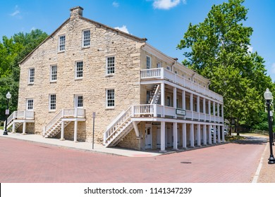 JEFFERSON CITY, MO - JUNE 20, 2018: The Lohman Building at the Jefferson Landing Historic Museum dates back to the early 1800's when Jefferson City became the capital of Missouri.