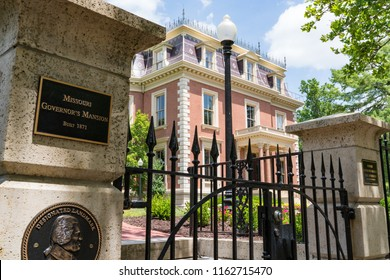 JEFFERSON CITY, MO - JUNE 20, 2018: Historic victorian Missouri Governor's Mansion in Jefferson City