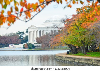 Jefferson Memorial in autumn season