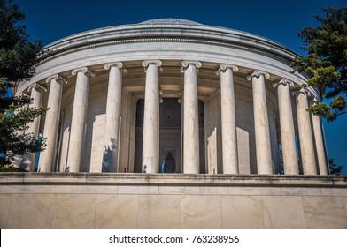 Jefferson Memorial from behind - Washington D.C.