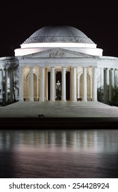 The Jefferson Memorial at Night in Washington D.C.