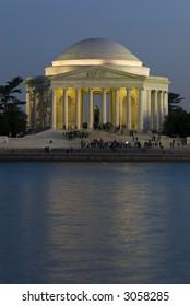 Jefferson Memorial night Washington DC travel series 22