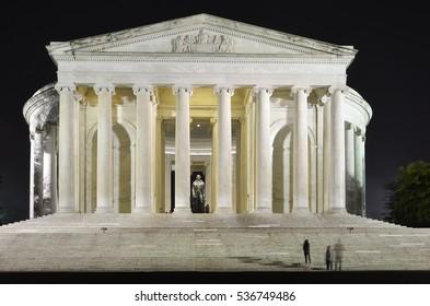 Jefferson Memorial at night - Washington DC, USA