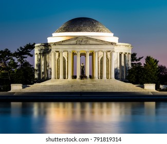 Jefferson Memorial at Twilight with Reflection in the Tidal Basin in Washington D.C.