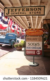 Jefferson, TX - October 31, 2011: Historic Jefferson General Store Located in downtown Jefferson, TX