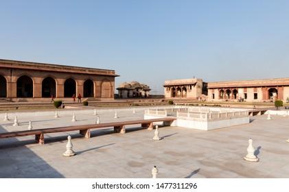 Jehangir's Quadrangle in the Lahore Fort, Lahore, Punjab, Pakistan. UNESCO World Heritage Cite.