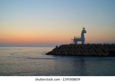 jeju island, sunset, e-ho-tae-woo beach
