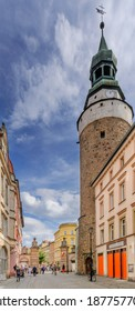 JELENIA GORA, LOWER SILESIA PROVINCE, POLAND -  SEPTEMBER 23, 2020: Wojanowska Tower and Gate.