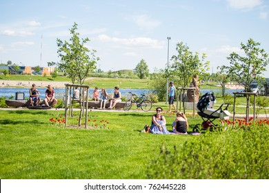 JELGAVA, LATVIA - May 21: Electri contrabbasso music enjoy at festival HELSUS Festival 2017 gathered togeather, on May 21, 2017