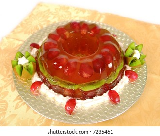 Jello grape cake dessert