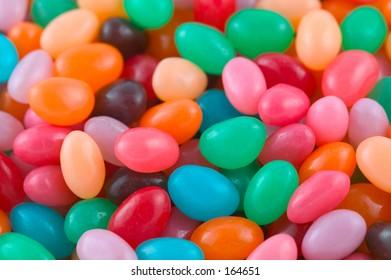 jelly beans closeup