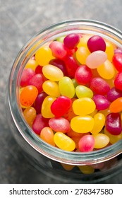 the jelly beans in jar