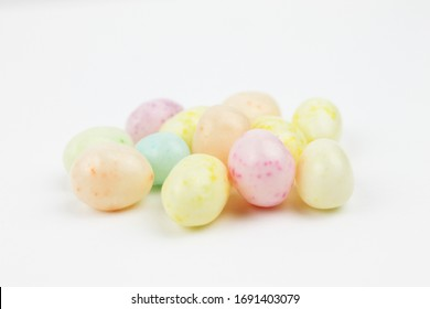Jelly Beans on a White Background