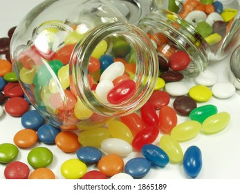 jelly beans whit cristal pot