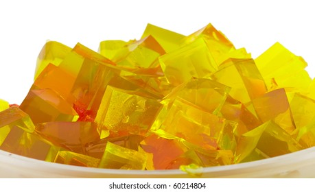jelly cubes in bowl