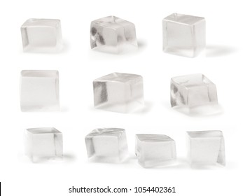 Jelly Cubes transparency Isolated