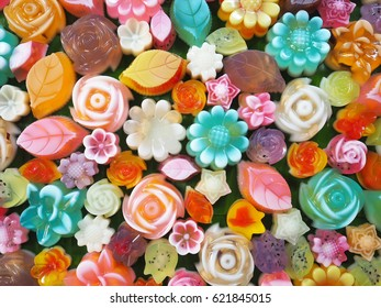 Jelly fresh fruit fancy color, sweet summer dessert