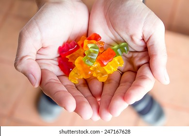 jelly in Handful women