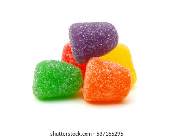 jelly sugar candies isolated on white background