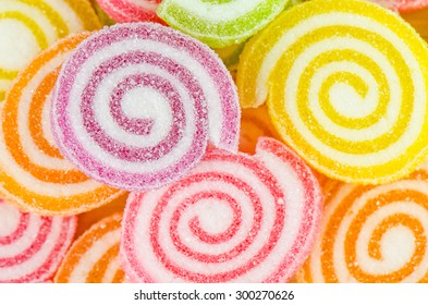 Jelly sweet, flavor fruit, candy dessert colorful.