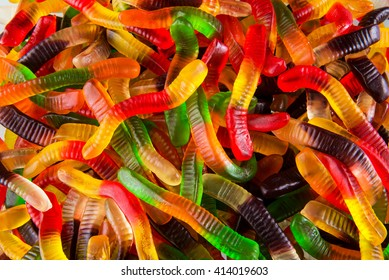 jelly worms, candies, sweets