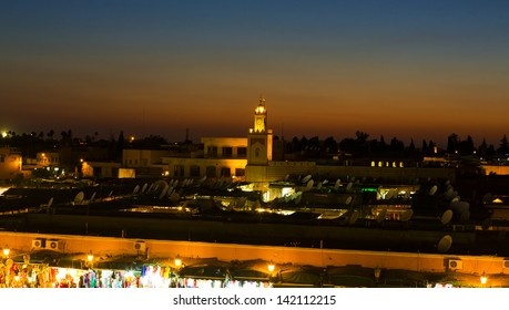 The Jemaa el Fna squre in Marrakesh, Morocco