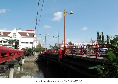"""""""JEMBATAN MERAH"""" or red bridge in Surabaya, the bridge which became the icon of the battle of the people of Surabaya with the Dutch army in 1945, APRIL, 30,2013 - SURABAYA- INDONESIA"""