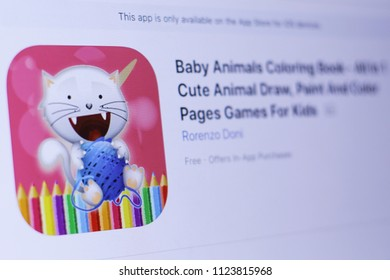 JEMBER EAST JAVA INDONESIA JUNE 29 2018 Baby Animals Coloring Book