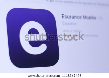 jember east java indonesia june 22 2018 esurance mobile app in
