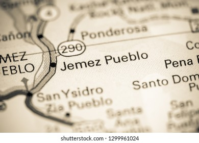 Jemez Pueblo. New Mexico. USA on a map