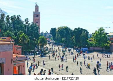 Jemma El Fna, Marrakech, Morocco, Africa