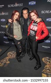 "Jen Soska, Glenn Danzig, Sylvia Soska  attends 19th Annual Horror Film Festival - Screamfest - ""Rabid"" Los Angeles Premiere - Arrivals at TCL Chinese Theatre, Hollywood, CA on October 16, 2019"