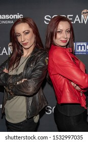 """Jen Soska, Sylvia Soska attend 19th Annual Horror Film Festival - Screamfest - """"Rabid"""" Los Angeles Premiere - Arrivals at TCL Chinese Theatre, Hollywood, CA on October 16, 2019"""
