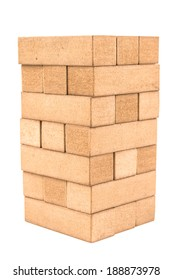 jenga on a white background