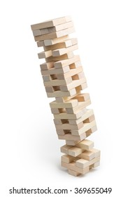Jenga tower collapses