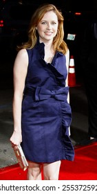"""Jenna Fischer attends the World Premiere of """"Leatherheads"""" held at he Grauman's Chinese Theater in Hollywood, California, United States on March 31, 2008."""