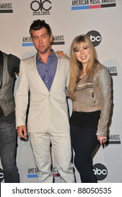Jennette McCurdy & Lance Bass at the nominations announcement for the 2010 American Music Awards at the JW Marriott at L.A. Live. October 12, 2010  Los Angeles, CA Picture: Paul Smith / Featureflash