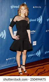 Jennifer Lawrence at the 24th Annual GLAAD Media Awards at the JW Marriott Los Angeles at L.A. LIVE on April 20, 2013