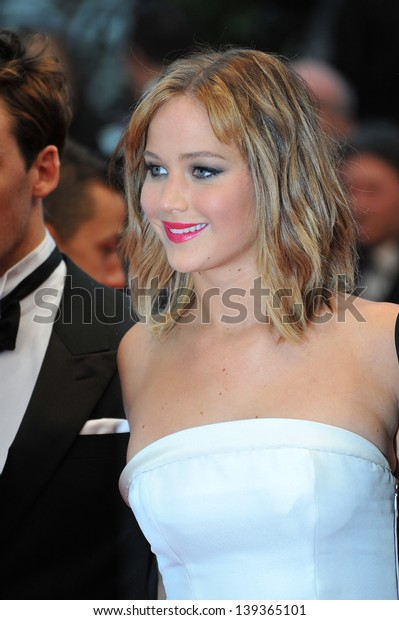 """Jennifer Lawrence at the gala premiere of """"Jimmy P. Psychotherapy of a Plains Indian"""" in competition at the 66th Festival de Cannes. May 18, 2013  Cannes, France"""