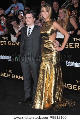 15098ae6f Jennifer Lawrence   Josh Hutcherson at the world premiere of their new  movie