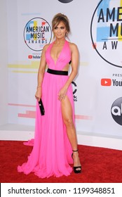 Jennifer Lopez at the 2018 American Music Awards held at the Microsoft Theater in Los Angeles, USA on October 9, 2018.