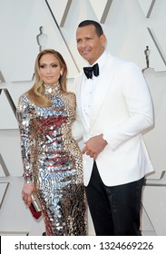 Jennifer Lopez and Alex Rodriguez at the 91st Annual Academy Awards held at the Hollywood and Highland in Los Angeles, USA on February 24, 2019.