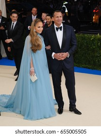 Jennifer Lopez and Alexander Rodriguez  attend the 2017 Metropolitan Museum of Art Costume Institute Benefit Gala at The Metropolitan Museum of Art in New York, NY on May 1, 2017
