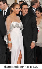 Jennifer Lopez & Marc Anthony at the 68th Annual Golden Globe Awards at the Beverly Hilton Hotel. January 16, 2011  Beverly Hills, CA Picture: Paul Smith / Featureflash