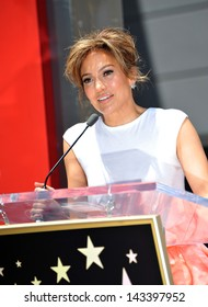 Jennifer Lopez on Hollywood Blvd where she was honored with the 2,500th star on the Hollywood Walk of Fame. June 20, 2013 Los Angeles, CA
