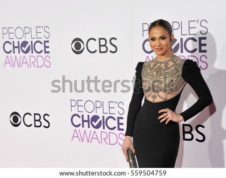 Jennifer Lopez at the People's Choice Awards 2017 held at the Microsoft Theater in Los Angeles, USA on January 18, 2017.