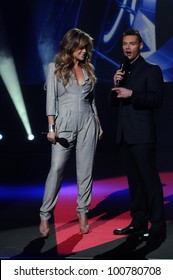"Jennifer Lopez and Ryan Seacrest at the ""American Idol"" Season 10 Judges Announcement, Forum, Inglewood, CA. 09-22-10"