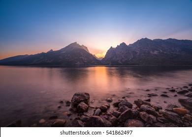 Jenny Lake sunset in Grand Teton National Park