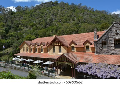 Jenolan Caves House, an historical heritage building located in the remote Jenolan Karst Conservation Reserve, Blue Mountains National Park in New South Wales, Australia.